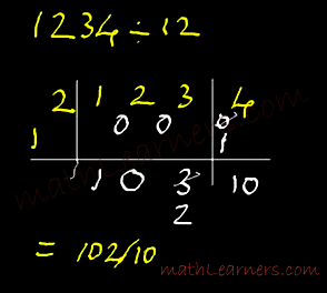 Flag Method of Vedic Mathematics to divide any numbers
