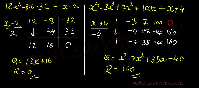 Vedic Mathematics Division of Polynomials