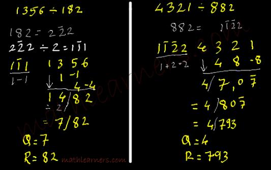 Vedic Mathematics tricks for dividing numbers using Anurupyena Sutra