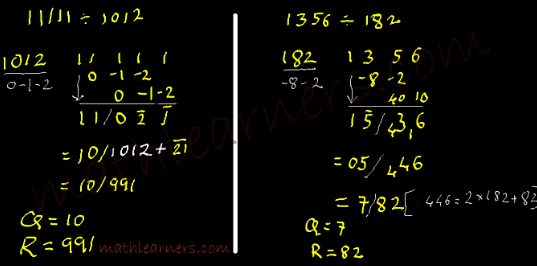 Division tricks in Vedic Mathematics using Paravartya Sutra