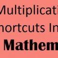 Multiplication shorcuts in Vedic Mathematics