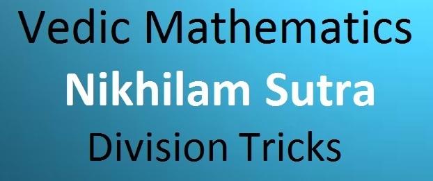 Vedic Mathematics Nikhilam Sutra