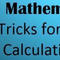 Shortcut Tricks in Vedic Maths