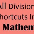 Vedic Mathematics Division Tricks